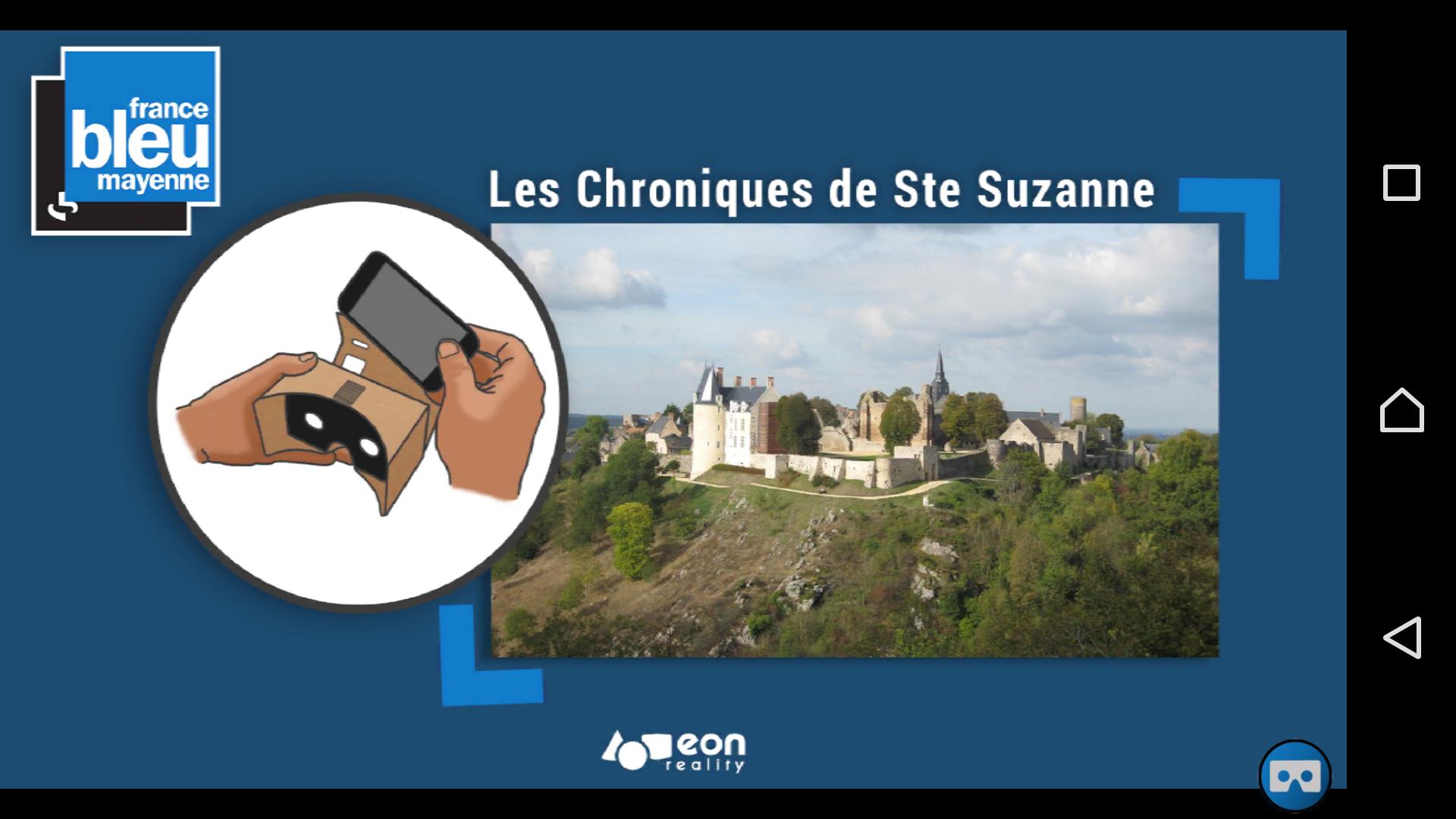 Prototype de l'application Chronique de Sainte-Suzanne de France Bleu