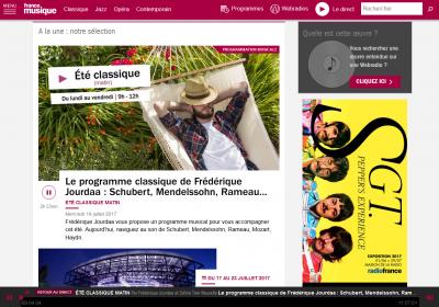 L'écoute en un clic depuis la page d'accueil de francemusique.fr