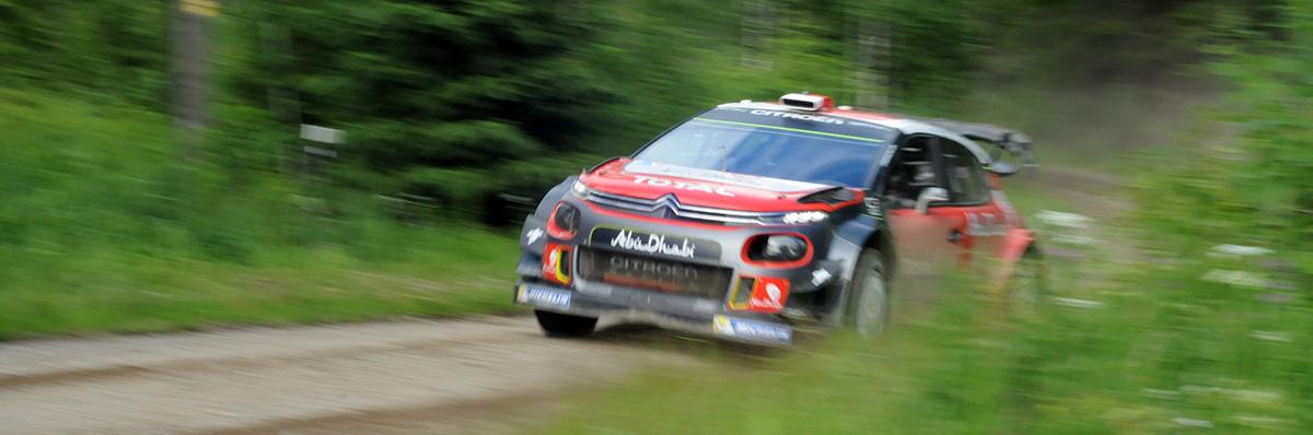 La Citroën WRC à toute blinde en F:inlande © RF/Cécile Quéguiner