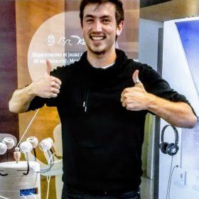 Maxime Bigonnet, lauréat du workshop pour son projet Audiopus