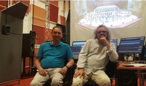 Pascal Besnard et Herve Dejardin au studio 112 de la Maison de la Radio